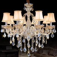 Luzes lustre moderno para Sala de estar Quarto lustre Cognac chandelier Iluminação Moderna luzes de cristal K9 Top Chandelieres