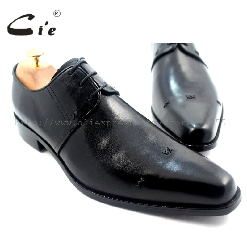 cie Free Shipping Pointed Toe Handmade Genuine Calf Leather Men's Dress Derby Color Black Breathable Perspiration Shoe No.D57 купить часы haas lt cie mfh211 zsa