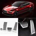 Brand New 4pcs Aluminium Non Slip Foot Rest Fuel Gas Brake Pedal Cover For Infiniti Q50 AT 2013-2016