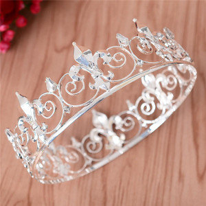 Image 5 - Adjustable Gorgeous Crystal Wedding Men Tiara Crown For Men Headpiece Rhinestone Hair Ornaments Wedding Head Jewelry Accessories