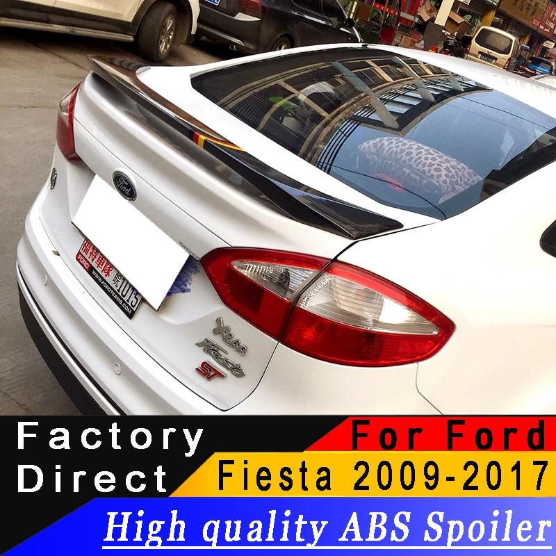 Pour Ford Fiesta 2009 à 2017 berline aileron arrière de haute qualité ABS matériel spoiler apprêt bricolage n'importe quelle couleur spoiler pour Fiesta