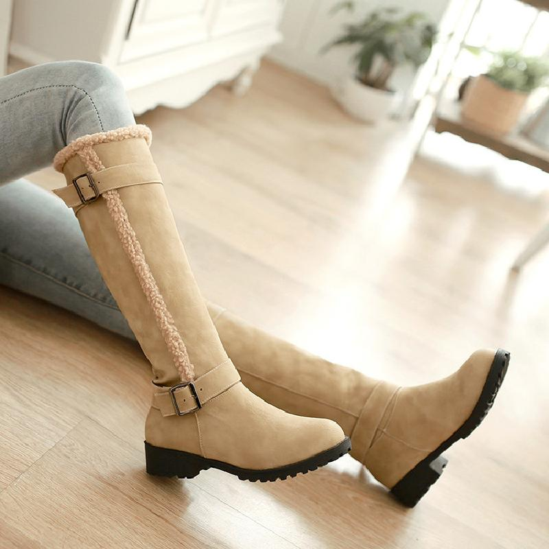 winter boots women snow boots knee high boots slip on warm boots women fashion female australian shoes woman free shipping &6003