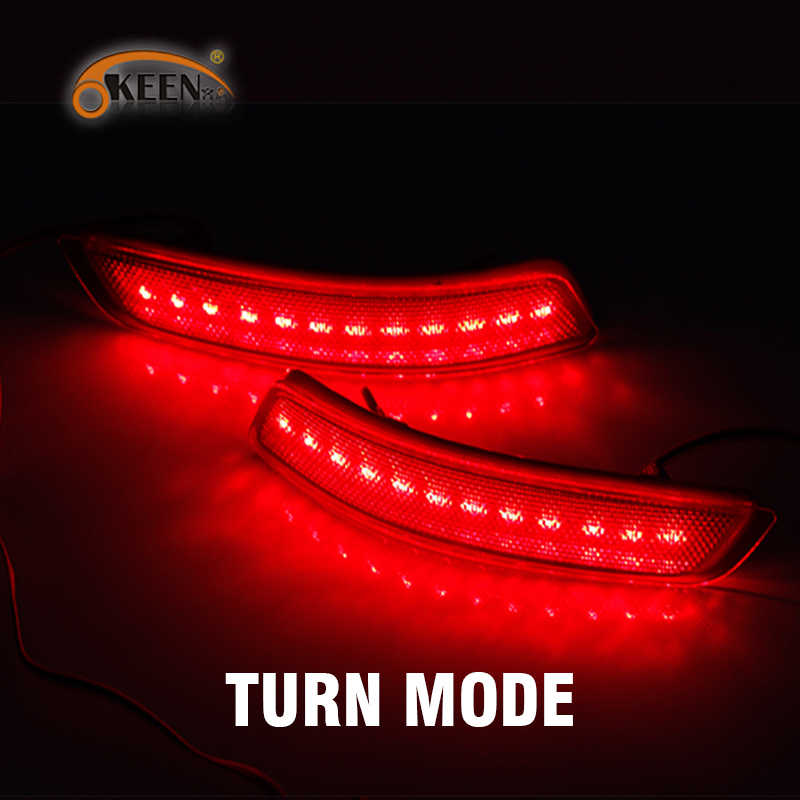 OKEEN 2 шт. задние фонари для Toyota Corolla 2014 2015 2016 светодиодный задний бампер отражатели света светодиодный указатель поворота Стоп противотуманные фары