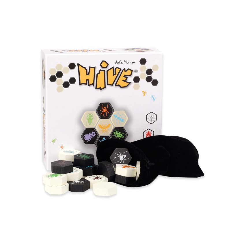 Hive Board Game 2 Players Family/Party Parents with Children Funny Game Entertainment Made High Quality Wooden plastic bad dog bones tricky toy games creative funny high quality parent children family party games unisex children game gifts