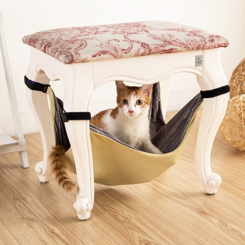 Cat Hammock Secure and Soft Under Chair or Table Hammock for Small Pets Kitten Hammock Bed Animal Hanging Cage Comforter 3b35