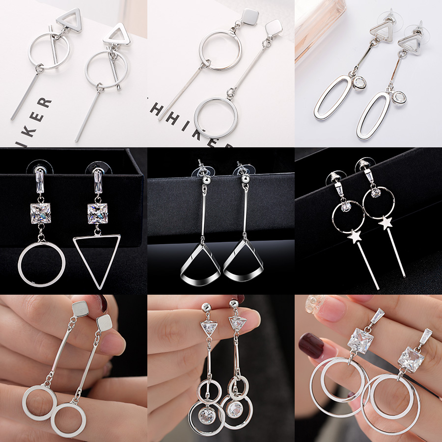 Fashion Statement Earrings 2019 Big Geometric earrings For Women Hanging Dangle Earrings Drop Earing modern Jewelry