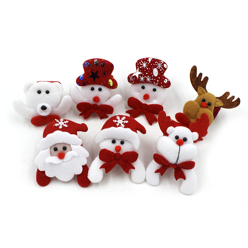 1PCS Christmas Decorations Christmas Patting Circle Christmas Children Gift Santa Claus Snowman Deer New Year Party Toys in Pendant Drop Ornaments from Home Garden