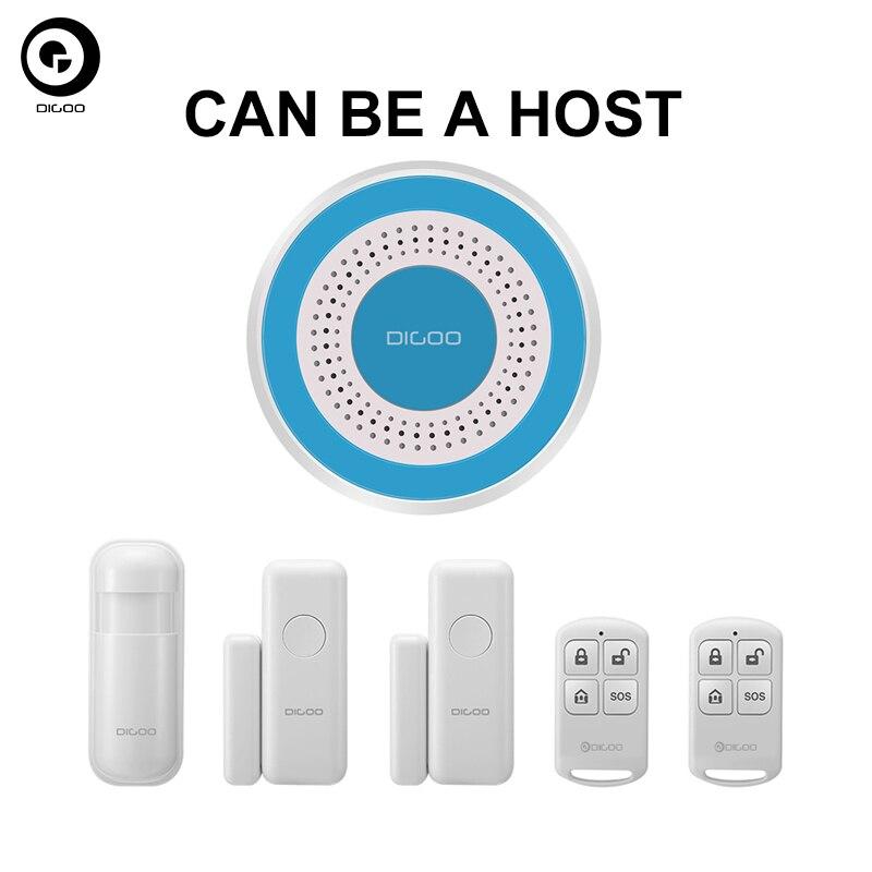 NEW Set DIGOO DG-ROSA ROSA 433MHz Wireless DIY Standalone Alarm Siren Multi-function Home Security Alarm Systems Kit