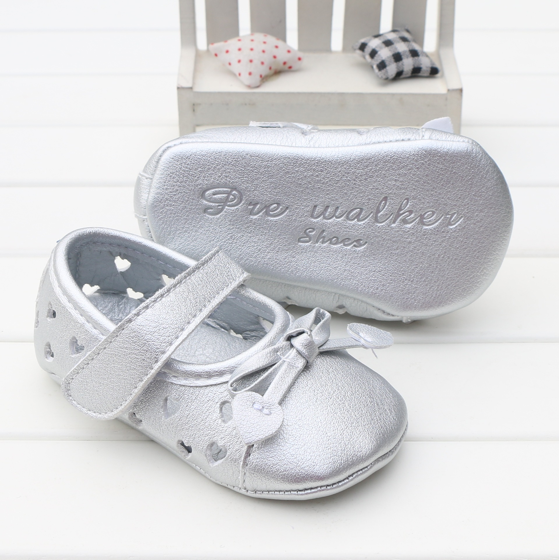 Baby First Walkers Baby Shoes Cute Soft Bottom Pu Non-slip Toddler Shoes for Baby Girls