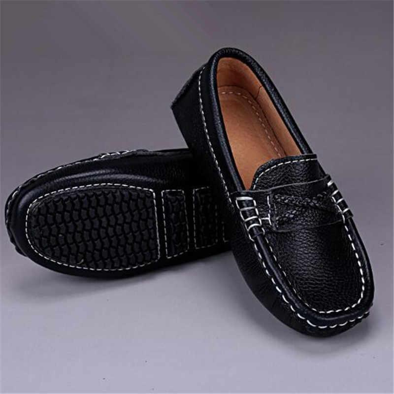 חדש בנים שחור שמלת נעלי תינוק עור אמיתי לופרס ילדים פעוט נעלי תלמיד בית ספר סגנון ילדי עור נעלי 041