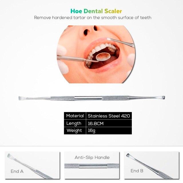 Vaclav 4Pcs Dental Mirror Stainless Steel Dental Tool Set Mouth Mirror Dental Kit Instrument Dental Pick Dentist Prepare Tool