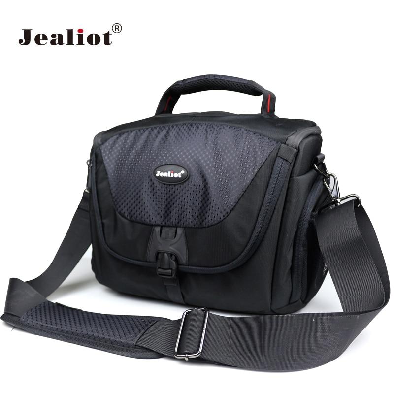 Jealiot DSLR Камера сумка полиэстер сумка Цифровой Камера фото объектив сумка для Canon Nikon sony FujiFilm <font><b>Olympus</b></font> Panasoni