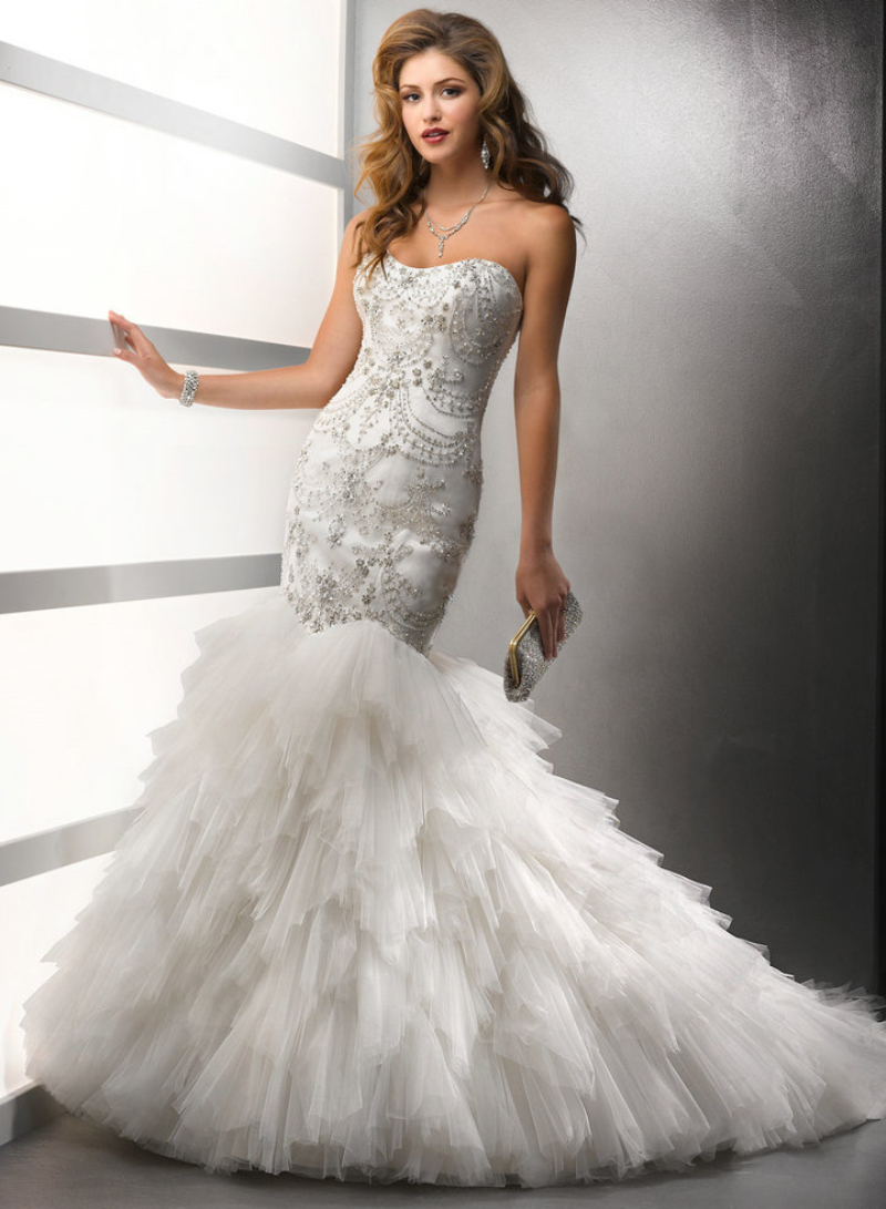 Online get cheap silver wedding dresses for Beading for wedding dress