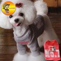 Три цвета домашних животных Футболка Щенок футболка S Одежда с принтом в виде собак Pet пальто Vestidos собаки жилет жилеты собак одежда Кот Худи ...