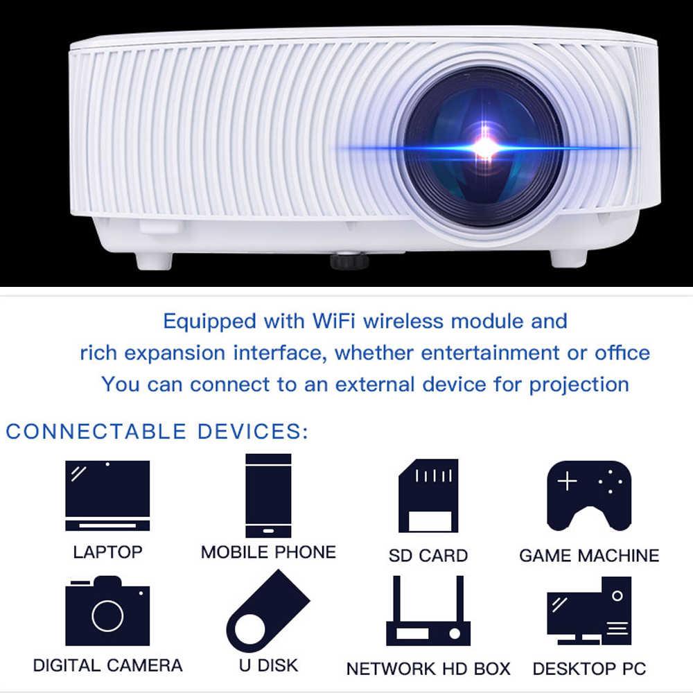 Кренова светодиодный проектор для Full HD 1080 P с wifi беспроводной проводной дисплей синхронизации для домашнего театральный фильм видео проектор Beamer