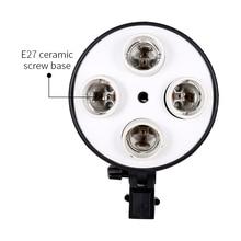 4 в 1 E27 база розеточный светильник лампы адаптер держатель софтбокс для студийной фото видео съемки