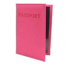 PU Leather Travel Passport okładka dla kobiet Panie mężczyźni Fashion Passport torba pokrowiec tanie tanio Akcesoria podróżne 14 3 cm Stałe Paszport PU + PVC eTya Pokrowce na paszport Masz 10 2 cm od czarny czerwony fioletowy Skyblue Rose szpilka zielony