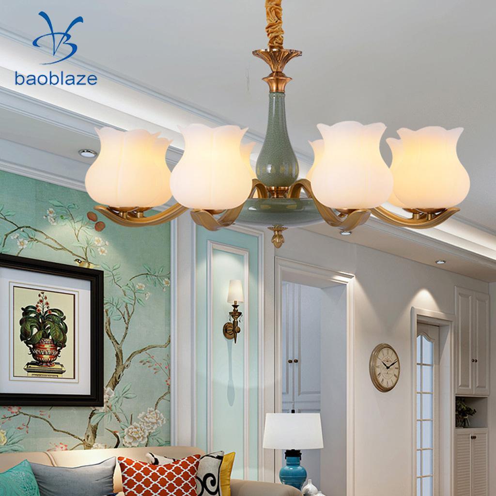 Baoblaze E27 Lamp Holder Glass Table Lamp Shade Modern Standard Small Lamp Shade