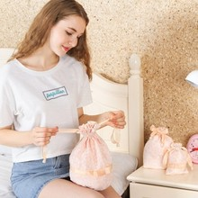 1pcs Beautiful Lace flower underwear included bag embroidered drawstring sundries storage free shipping