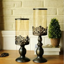 Paint Wrought Iron Candlestick Romantic Candlelight Dinner Iron Table Decoration Lover Wedding Props Home Soft Gift цена