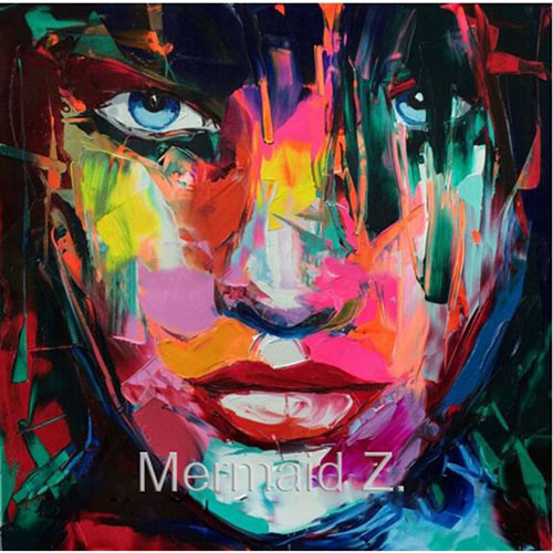 Hand Painted Abstract Picture Modern Nielly Francoise Knife Palette - Hiasan rumah - Foto 3