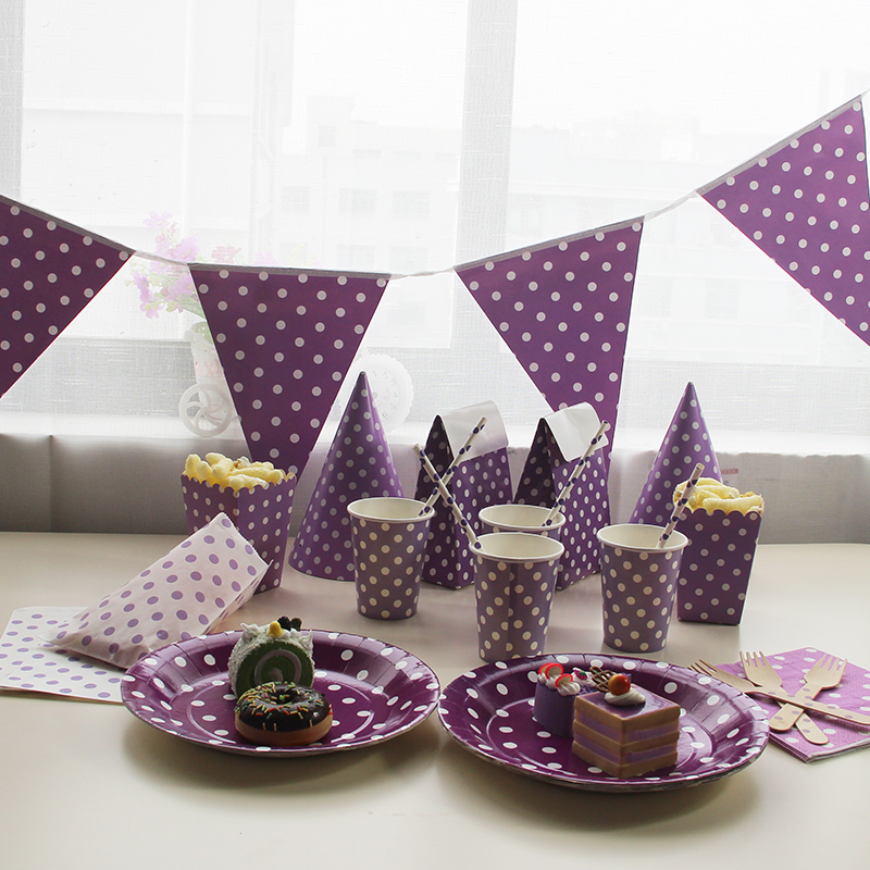 Disposable Tableware Sets Purple Theme TableCloth Cups Paper Plate Napkin Flag Kids Boy Birthday Party Decoration-in Disposable Party Tableware from Home ... & Disposable Tableware Sets Purple Theme TableCloth Cups Paper Plate ...
