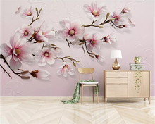 Beibehang wallpaper mural modern minimalist hand-painted 3D lily pink TV background wall living room bedroom murals 3d wallpaper beibehang modern minimalist 3d abstract geometric wallpaper barber shop scandinavian style bedroom living room tv background