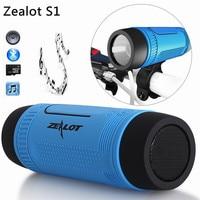 Original Zealot S1 Bluetooth Speaker LED Light Wireless Portable Speakers Outdoor Waterproof Torchlight Power Bank FM