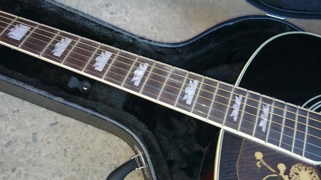 left hand Acoustic Guitar Vintage Sunburst Acoustic Electric Guitar Factory customization 3