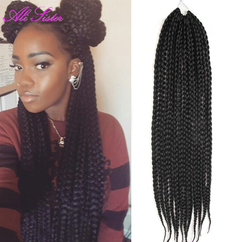 hair styles in the 70s 22 quot box braids hair crochet hair extensions 8142