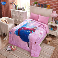 Disney Frozen Elsa and Anna Summer Quilts Comforters Bedding Cotton Covers Girl's Baby Kids Room Decoration 150*200cm 200*230cm