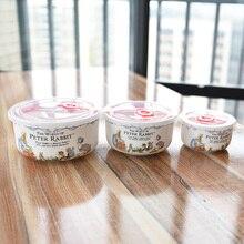 Британия Питер посуда с кроликами супницы запечатать крышкой свежие кости салатник Китай сохранить свежесть Ланч Bento Box пищевой контейнер