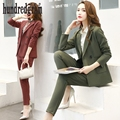 2017 spring new fashion OL small suit jacket trousers suit temperament two-piece suit women-dod265