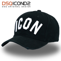 DSQICOND2 High Quality Brand DSQ Casquette Hat Solid Pattern Hats Letters ICON Casquette Baseball Cap Snapback