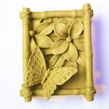 Бабочка в бамбуке Ремесло Искусство Силиконовые формы для мыла ремесленные формы DIY
