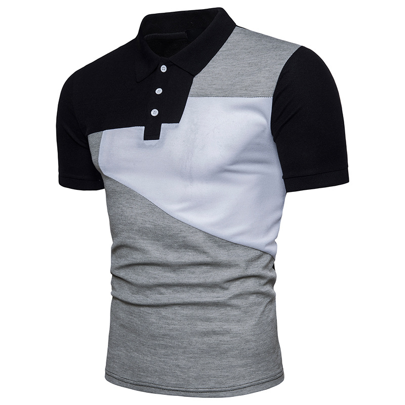 ief.G.S Summer Mens Fashion Big Size Clothing Polo Shirt Men Business & Casual Solid Male Short Sleeve Breathable Polo Shirt