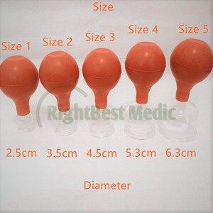 Image 1 - 2 tasses de haute qualité verre médical et caoutchouc ventouses sous vide ventouses Massage corporel ventouses soins de santé outils de beauté 5 tailles