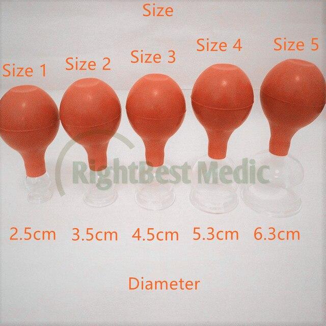 2 tasses de haute qualité verre médical et caoutchouc ventouses sous vide ventouses Massage corporel ventouses soins de santé outils de beauté 5 tailles