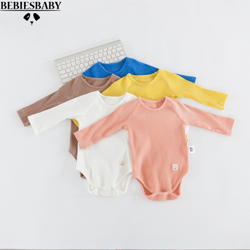 2017 Summer Baby Rompers Candy 5 Colors Unisex Kids Jumpsuit Long Sleeve Soft Cotton Newborn Baby Girl Infant INS Clothes 4M-24M newborn baby rompers baby clothing 100% cotton infant jumpsuit ropa bebe long sleeve girl boys rompers costumes baby romper