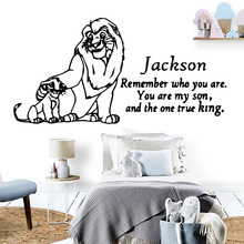 Creative The Lion King House Decor Modern Acrylic For Kids Living Rooms Decoration Decal Stickers