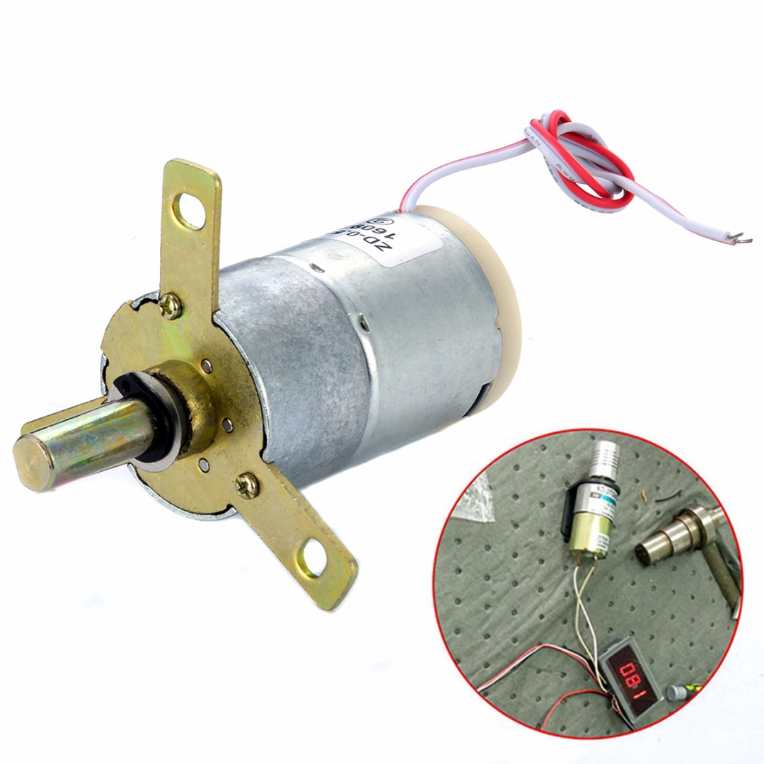 1pc High Torque DC Gear Box 12V 25 RPM Electric Motor Replacement Regulator 32mm 2pcs 12v 60 rpm 60rpm high torque gear box dc motor