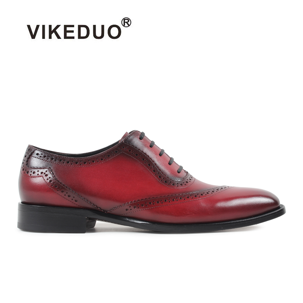 Vikeduo 2017 hot Handmade Retro fashion Mens Oxford Shoes Custom Party Designer Genuine Leather shoes Wedding male dress shoes 2017 vintage retro custom men flat hot sale real mens oxford shoes dress wedding party genuine leather shoes original design
