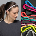 High Quality 20 pcs Women Men yoga hair bands Sports Headband Anti-slip Elastic Rubber Sweatband Football Yoga Running biking