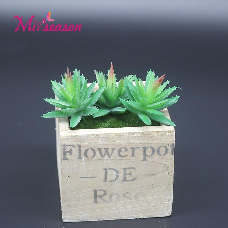 Mini Artificial Aloe Flowers Decoration Succulent Flower Microlandschaft Fleshiness Green Plant Landscape Potted Arrangement