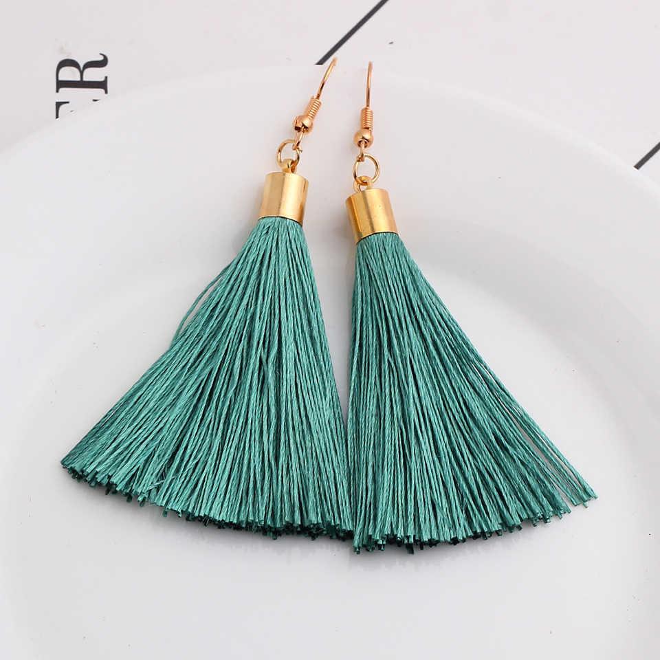 Bohema frędzle kolczyki vintage drop dynda pendientes mujer moda 2019 kolczyki dla kobiet kolczyki biżuteria oorbellen