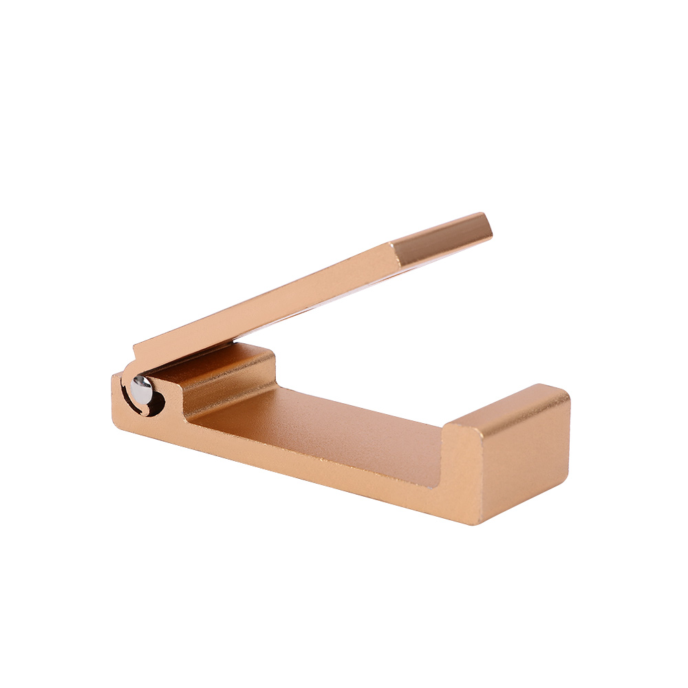Складной держатель для наушников, вешалка для гарнитуры, настенный крючок из алюминиевого сплава, подставка для наушников с наклейкой, винты, крючки для ванной комнаты, настенный