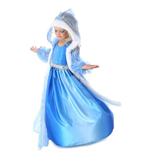Hot 2017 Summer Girl Fashion Elsa Anna Dress Children Clothing Girls Princess Elsa Anna Party Dresses Baby Kids Clothes Vestidos 4