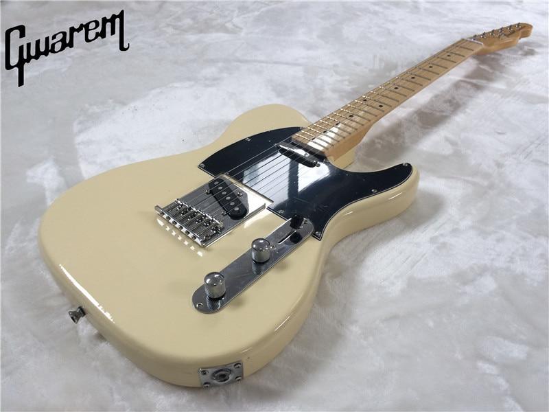 Chitarra elettrica/Gwarem luck stella tele chitarra colore giallo/nero pickgard/chitarra in cina