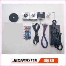 Części maszyny grawerowanie laserowe, 2 osi sterowania baord + silnik krokowy + 12V3A zasilacz + pas + biegów + USB drutu