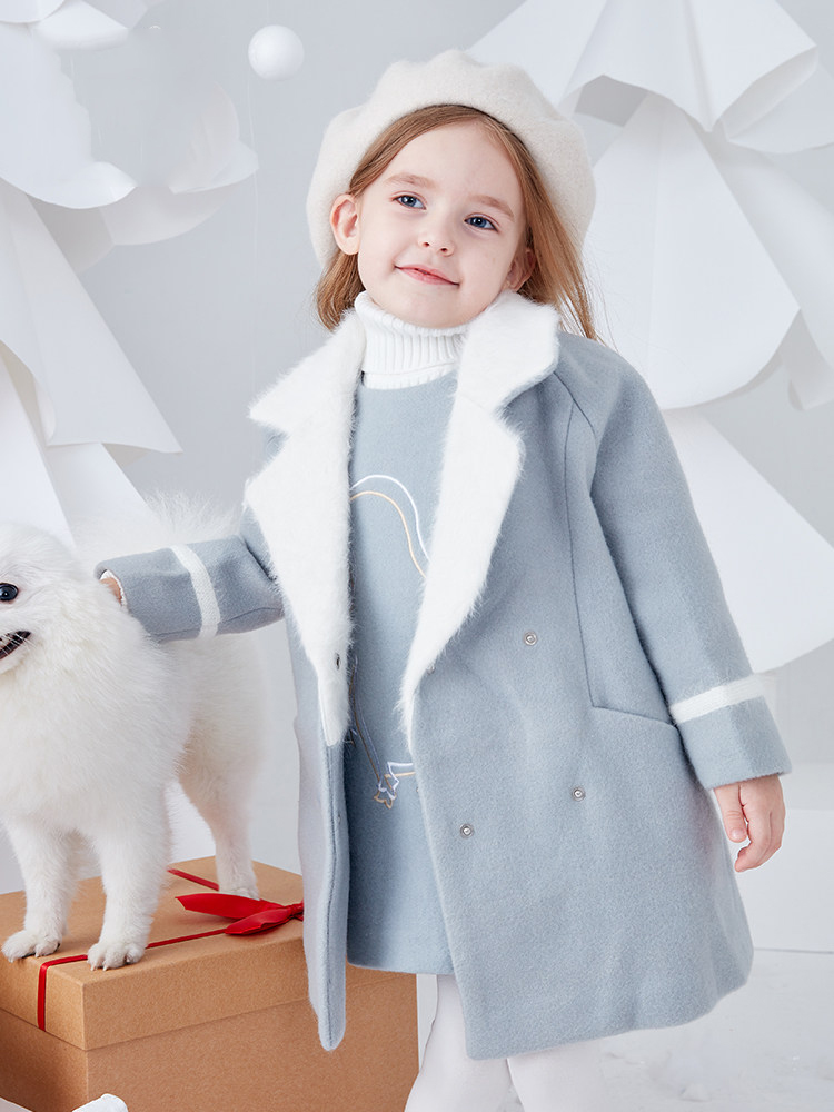 2018 Winter Baby Girls Elegant Jacket Children Wool Coat Little Princess Party Kids Sweet Outwear for Age2 3 4 5 6 7 8 Years Old недорго, оригинальная цена